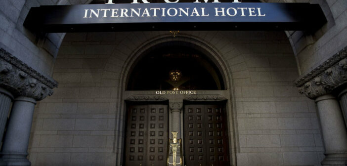 Donald Trump's Very Own Hotel Gets Some Scuffs